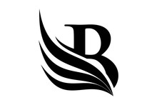 Initial Letter B Logo And Wing...