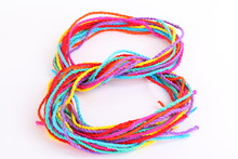 Colorful Paper Rope With Knot ...