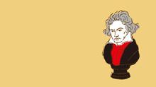 ベートーベンの胸像イラスト