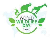 World Wildlife Day, March 3. Vector Illustration For You Design, Card, Banner, Poster.