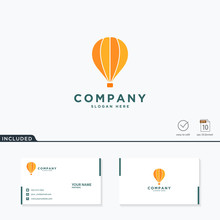 Air Balloon Logo Design, Vecto...