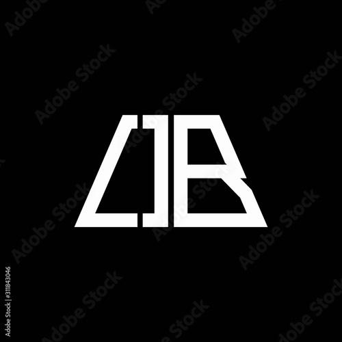 Fotografía  OB logo abstract monogram isolated on black background