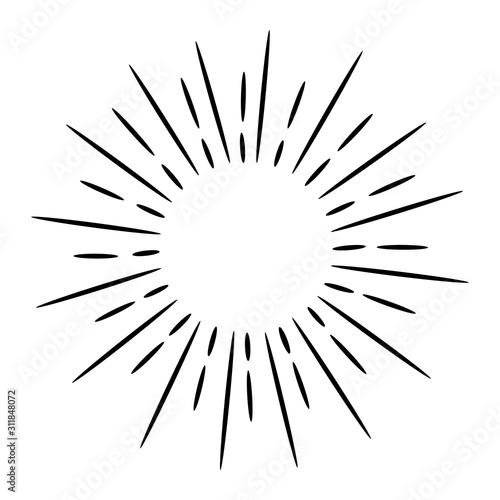 Fototapeta doodle design element starburst hand drawn obraz na płótnie