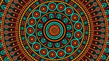 Aboriginal Dot Art Vector Back...