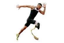 Athlete Runner Disabled Ampute...