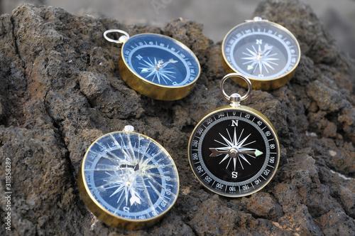 Analogic Compass Canvas Print