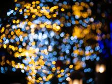 Taking Photo Of The Bokeh Lights At Night.
