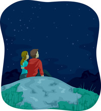 Couple Mountain Top Stargazing...