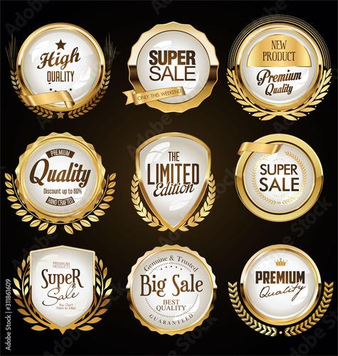 Fototapety, obrazy: Golden badges and labels