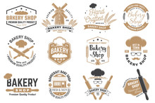 Set Of Bakery Shop Badge. Vect...