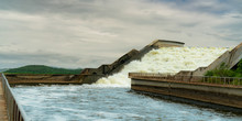 Drainage Canal Water Bridge. W...