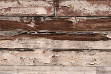 Wall Of Wooden Planks Worn By ...