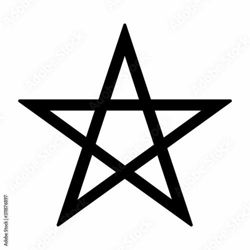 Fotografie, Obraz Pentagram symbol illustration