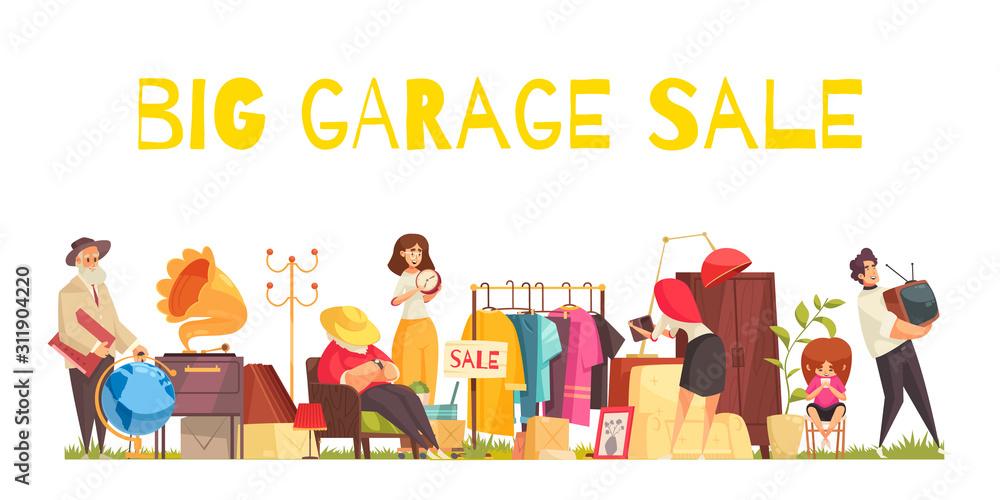 Fototapeta Garage Sale Concept