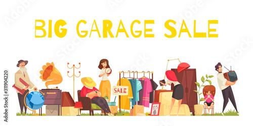 Obraz Garage Sale Concept - fototapety do salonu