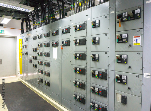 electrical control panel Canvas Print