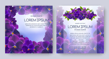 Floral Vector Card Set With Fl...
