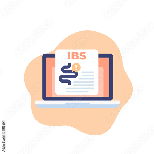 IBS or irritable bowel syndrome, vector icon Canvas-taulu