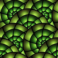 Stained Glass Window Vector Seamless Pattern.