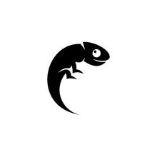 Chameleon Black Vector Stock I...