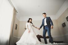 Cute Happy Bride And Groom Pre...