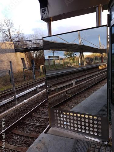 Obraz U-Bahnhof Garching-Hochbrück - fototapety do salonu