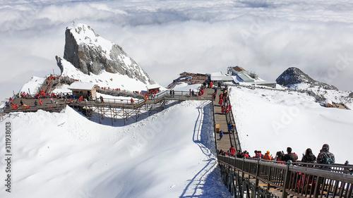 Photo High altitude Gracier at Jade Dragon Snow Mountain, Yunnan Province, China