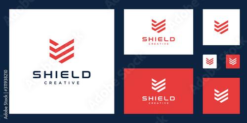 Slika na platnu Shield logo design