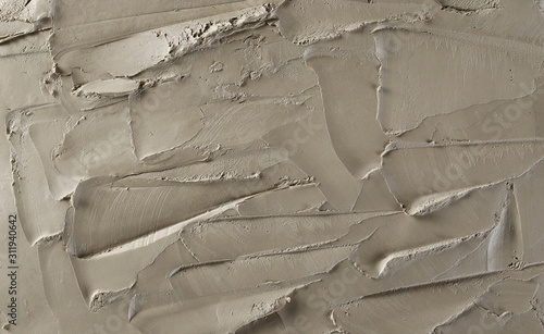 Fototapeta Grey modelling clay background and texture