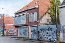 Abandoned City Doel In Belgium Near Nuclear Power Plant