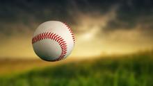 Baseball Ball On A Blurry Back...