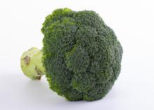 Brassica Oleracea Var Italica Broccoli Isolated Against White Background