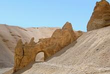 A Natural Tunnel Beacause Of The Soil Erosion At Leh-Manali Himachal Pradesh, India