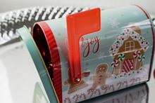 Festive Christmas Mailbox Tin