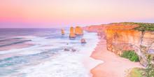 Sunset On Beach At The 12 Apos...