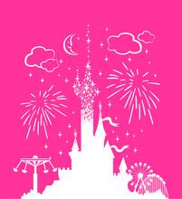 Princess Castle. Fantasy Pink ...