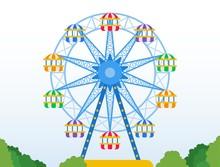 Ferris Wheel In A Park Vector ...