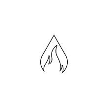 Flame Logo Template Vector Ico...