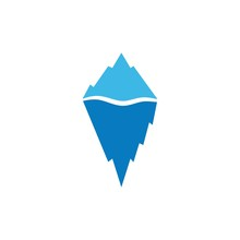 Ice Berg  Icon Vector Illustra...