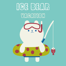 Cute Polar Bear Go Swimming Ca...