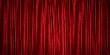 赤いベルベットのカーテン