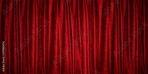 Fototapeta 赤いベルベットのカーテン