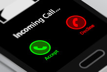Smartphone With Incoming Call ...