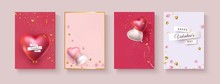 Valentine Banners With Red Pin...