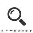 search glass icon vector illustration for website and graphic design symbol