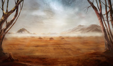Fantasy Desert Landscape With ...