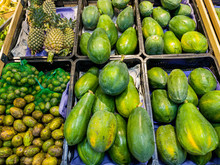 Fresh Papaya And Pineapple For Sale At The Fruit Store