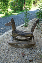 Wooden Rocking Horse Chair For...