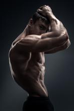 Handsome Muscular Bodybuilder ...