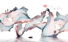 Ink Landscape Decorative Paint...